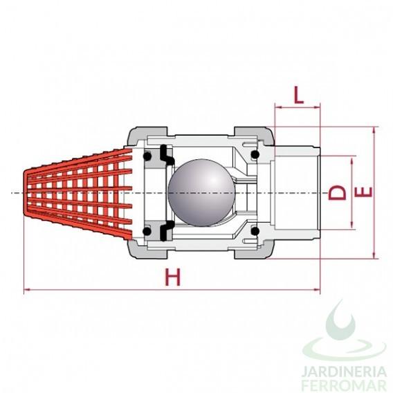 V lvula de pie de bola pvc cepex epdm encolar piscinas for Piscinas ferromar