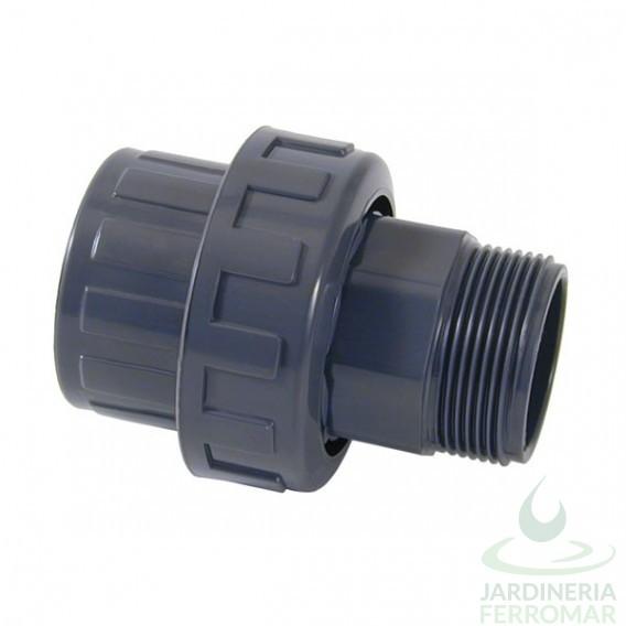 Enlace m/h 3 piezas PVC Cepex roscar