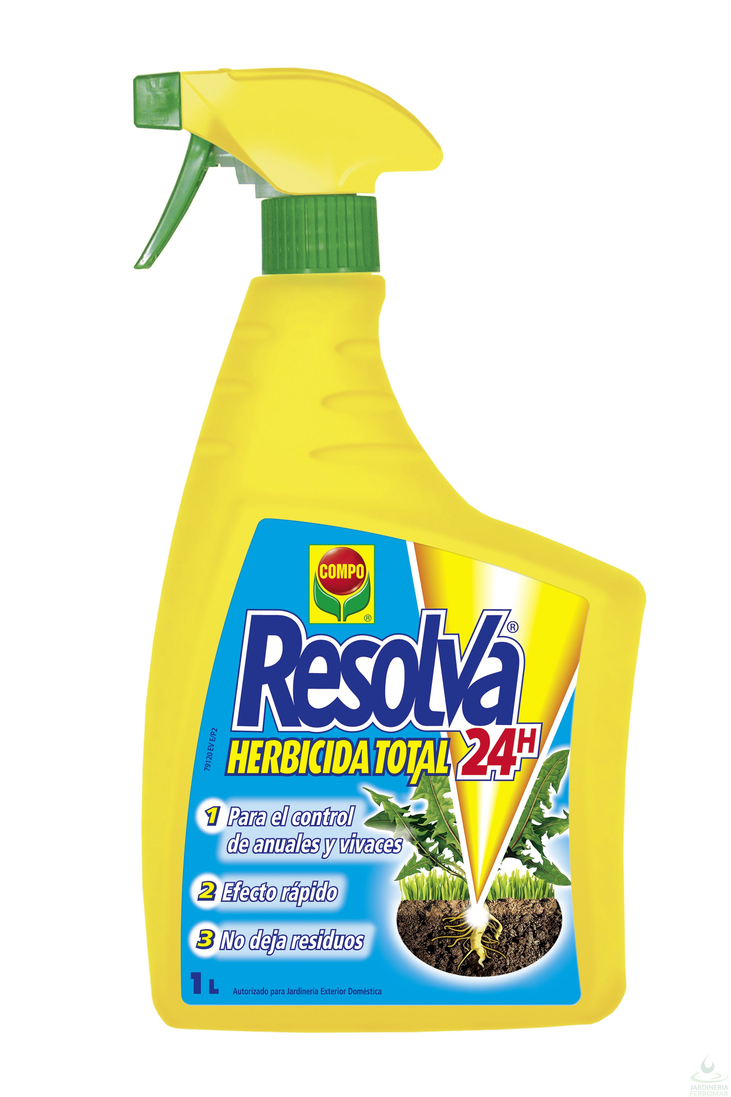 Compo Herbicida Total Resolva 24H Pistola 750 ml