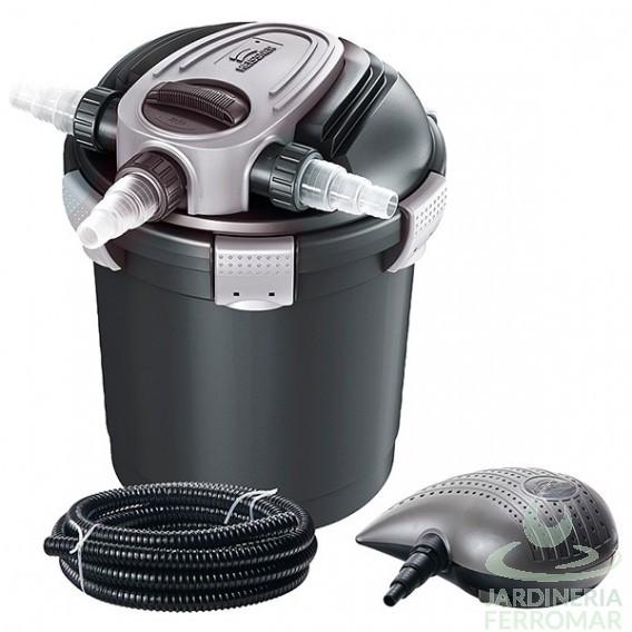 Set filtro a presión estanques Heissner con bomba y lámpara UV