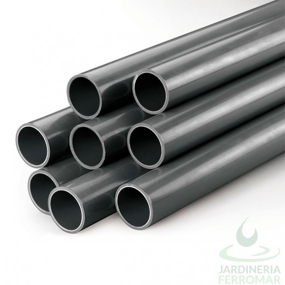 Tubo PVC presión PN10 gris rígido D40-D250 Cepex