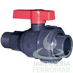 Válvula de bola Uniblock PVC PE-EPDM roscar macho y encolar Cepex