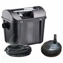 Set completo filtración estanque con bomba y UV 5000 litros Heissner