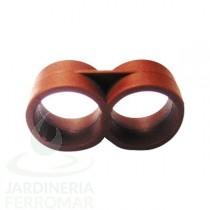 Tapón doble anillo 16 mm PE riego por goteo Cepex 50 uds.