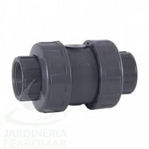 Válvula antirretorno de bola PVC Cepex EPDM roscar
