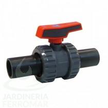 Válvula de bola [STD] Cepex PVC soldadura a tope PE100