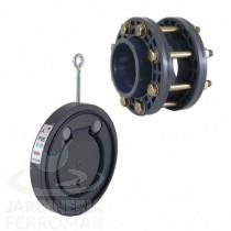 Válvula de clapeta con kit accesorios PVC Cepex