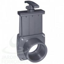 Válvula de guillotina PVC roscar hembra x espiga Cepex