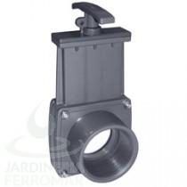 Válvula de guillotina PVC roscar hembra x encolar Cepex