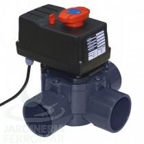 Válvula distribuidora a 3 vías PVC encolar Cepex (automática)