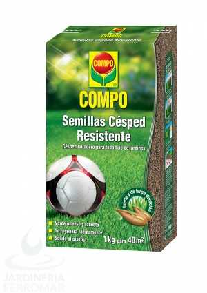 Compo Semillas Césped Resistente Estuche 1 kg