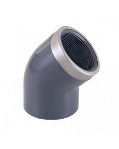 Cepex Codo mixto reforzado 45º PVC encolar y roscar