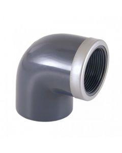 Cepex Codo mixto reforzado 90º PVC encolar y roscar