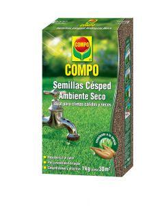 Compo Semillas Césped Ambiente Seco Estuche 1 kg