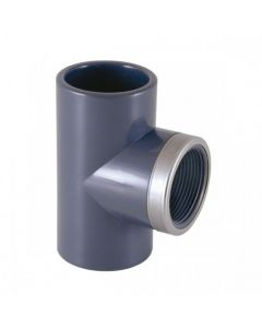 Te mixta reforzada 90º PVC encolar y roscar Cepex