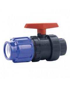 Válvula de bola PVC Cepex conexión PE x roscar
