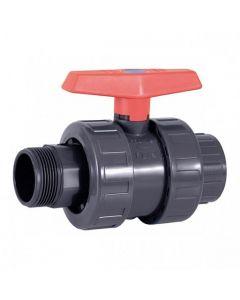 Válvula de bola PVC PN10 Cepex roscar macho x encolar