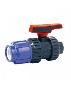 Válvula de bola Cepex STD PVC conexión PE y roscar
