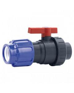 Válvula de bola Uniblock PVC PE-EPDM Cepex conexión PE y roscar