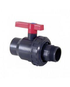 Válvula de bola Uniblock PVC PE-EPDM encolar y roscar macho Cepex