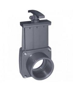 Válvula de guillotina PVC roscar hembra x roscar macho Cepex