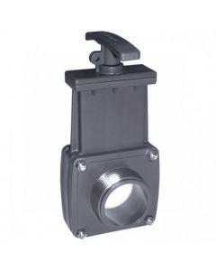 Válvula de guillotina PVC roscar macho x encolar Cepex