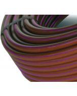 Tubería riego por goteo marrón banda morada Cepex 100 m
